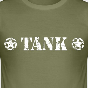 TANK White T-Shirts - Men's Slim Fit T-Shirt