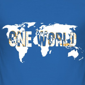 One World 1 - Männer Slim Fit T-Shirt