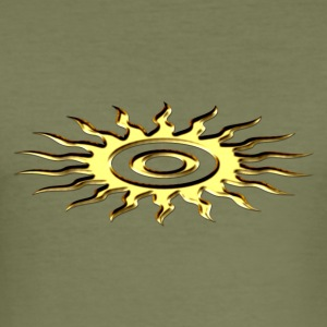 Sun symbol, digital, silver T-skjorter - Slim Fit T-skjorte for menn