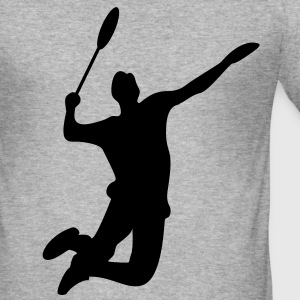 Badminton menn T-skjorte - Slim Fit T-skjorte for menn
