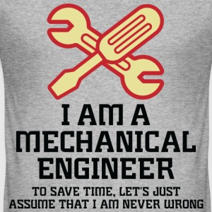 I Am A Mechanical Engineer 1 (dd)++ T-shirts - slim fit T-shirt