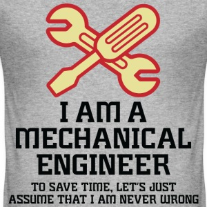 I Am A Mechanical Engineer 1 (dd)++ T-Shirts - Männer Slim Fit T-Shirt