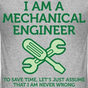 I Am A Mechanical Engineer 2 (dd)++ T-shirts - Slim Fit T-shirt herr