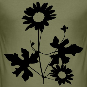 Flower Men's T-shirt - Men's Slim Fit T-Shirt