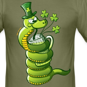 Saint Patrick's Day Snake T-Shirts - Men's Slim Fit T-Shirt