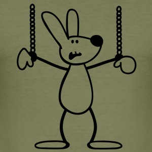 Chained Rabbit T-shirts - Herre Slim Fit T-Shirt