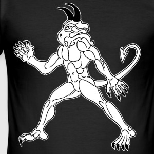 demon, dragon, dracul, white - Herre Slim Fit T-Shirt