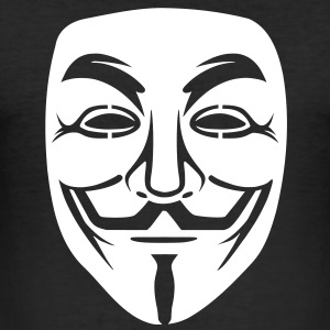 Annonymous/Guy Fawkes masker 1clr T-shirts - slim fit T-shirt