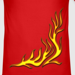 Flame / pants, fire, vector, can be combined with flame / T-shirt,  T-Shirts - Men's Slim Fit T-Shirt