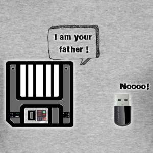 Disquette I am your father - Tee shirt près du corps Homme