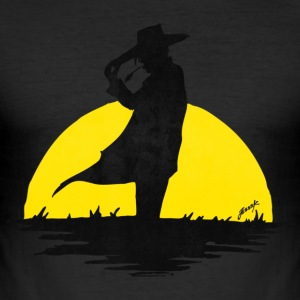 Sunset Cowboy T-shirts - Slim Fit T-shirt herr