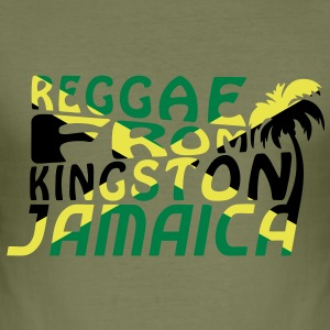 reggae from kingston jamaica Tee shirts - Tee shirt près du corps Homme