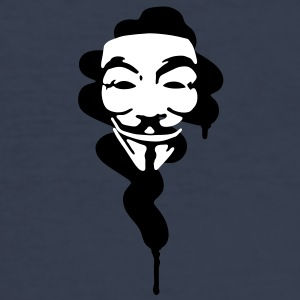 GUY FAWKES, street art T-Shirts - Men's Slim Fit T-Shirt