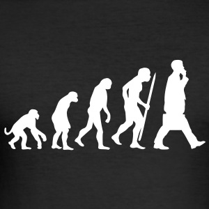 Evolution of the the financial business T-Shirts - Men's Slim Fit T-Shirt