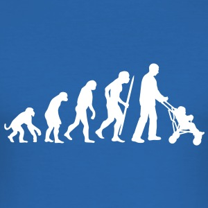 Evolution of the the (grand)fatherhood T-Shirts - Men's Slim Fit T-Shirt