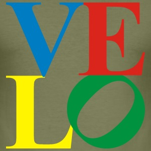 velo - love 4-farb T-Shirts - Männer Slim Fit T-Shirt