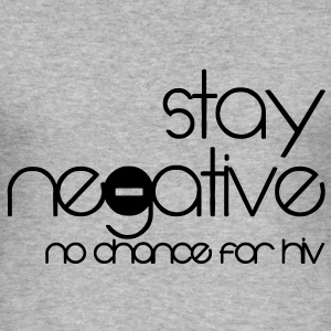 stay negative - anti hiv T-skjorter - Slim Fit T-skjorte for menn