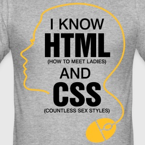 I Know Html 3 (2c)++ T-shirts - Herre Slim Fit T-Shirt