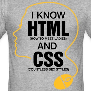I Know Html 3 (2c)++ T-Shirts - Männer Slim Fit T-Shirt