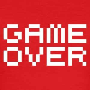 Game over / game over pixels T-Shirts - Men's Slim Fit T-Shirt