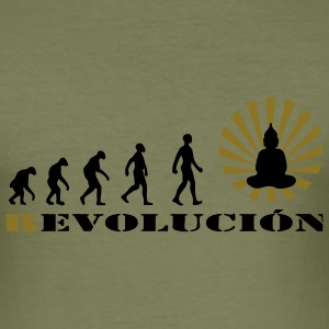 Darwin, evolution, revolution, enlightened, Buddha - Men's Slim Fit T-Shirt