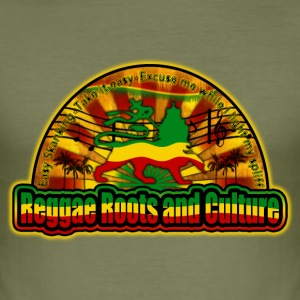 reggae roots and culture easy skanking T-Shirts - Männer Slim Fit T-Shirt