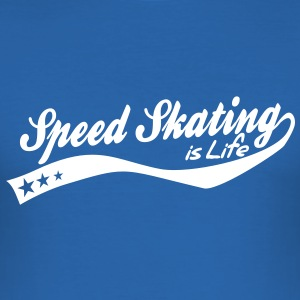 Speed skating is life - retro T-Shirts - Men's Slim Fit T-Shirt