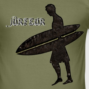 Surfer Tee shirts - Tee shirt près du corps Homme