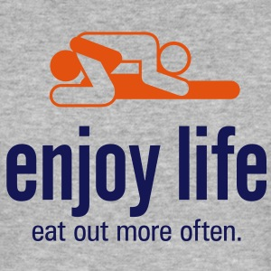 Enjoy Life 5 (2c)++ T-Shirts - Men's Slim Fit T-Shirt