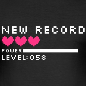 new record level 58 birthday design Geburtstag (fr) Tee shirts - Tee shirt près du corps Homme
