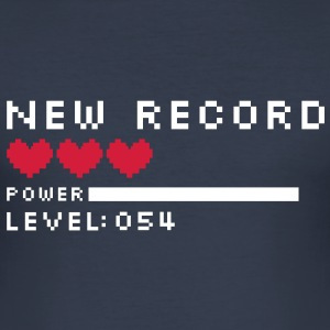 new record level 54 birthday design Geburtstag (es) Camisetas - Camiseta ajustada hombre