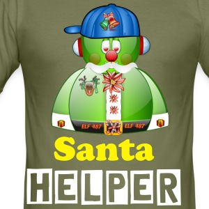 Elf Helper for Father Christmas Santa - Men's Slim Fit T-Shirt