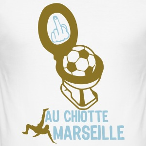 chiotte marseille football supporter Tee shirts - Tee shirt près du corps Homme