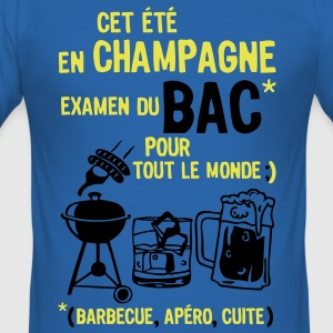 bac champagne  barbecue apero cuite biere Tee shirts - Tee shirt près du corps Homme