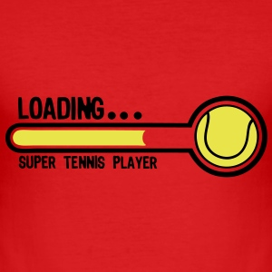 tennis loading super player1 Tee shirts - Tee shirt près du corps Homme