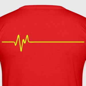 Frequency Back (FREQUENCE - FREQUENZ - BEAT - BASS - PULS) - Men's Slim Fit T-Shirt