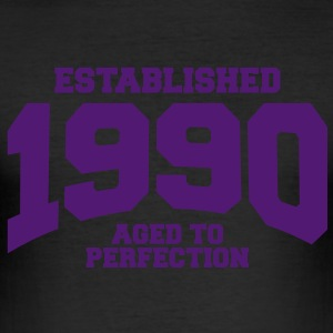 aged to perfection established 1990 (sv) T-shirts - Slim Fit T-shirt herr