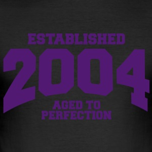 aged to perfection established 2004 (it) T-shirt - Maglietta aderente da uomo