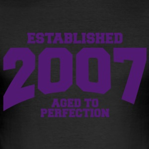 aged to perfection established 2007 (fr) Tee shirts - Tee shirt près du corps Homme