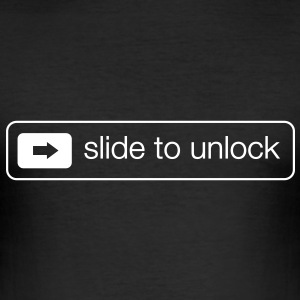 Slide to unlock T-Shirts - Men's Slim Fit T-Shirt