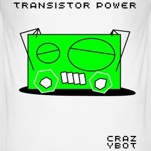 Crazybot - transistor power - Männer Slim Fit T-Shirt