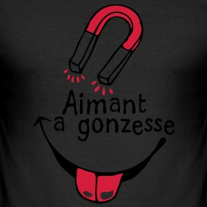 aimant gonzesse1 femme fille girl Tee shirts - Tee shirt près du corps Homme