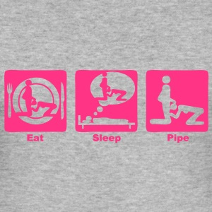eat sleep pipe play1 Tee shirts - Tee shirt près du corps Homme