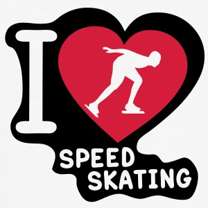 speed skating love coeur heart9 Tee shirts - Tee shirt près du corps Homme