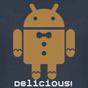 Droid Gingerbread T-Shirts - Männer Slim Fit T-Shirt