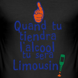 quand tiendra alcool sera limousin Tee shirts - Tee shirt près du corps Homme
