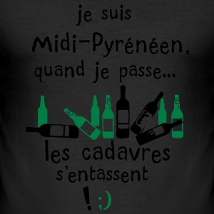 midi pyreneen cadavre entasse alcool Tee shirts - Tee shirt près du corps Homme