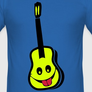 guitare acoustique sourie smiley2 Tee shirts - Tee shirt près du corps Homme