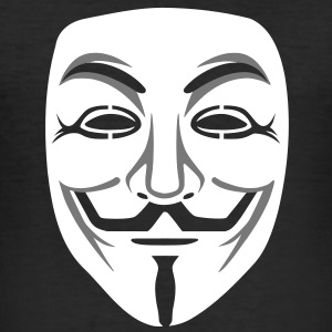 Anonymous / masque de Guy Fawkes 2clr Tee shirts - Tee shirt près du corps Homme