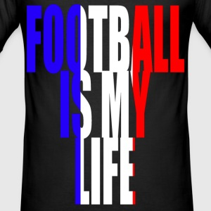 football is my life france T-Shirts - Men's Slim Fit T-Shirt